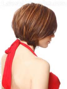 photo very short a frame bob medium length hairstyles with side swept bangs and face