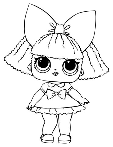 lol doll glitter queen coloring page  printable