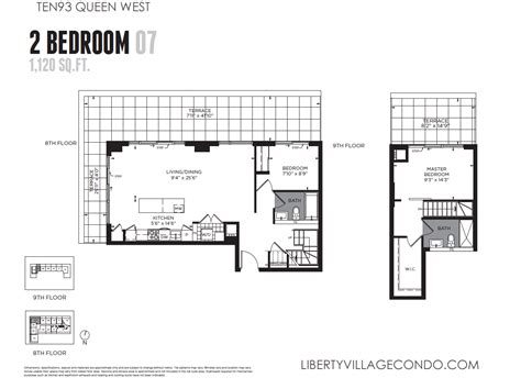 2 level floor plans ten93 queen west pre construction condo liberty village