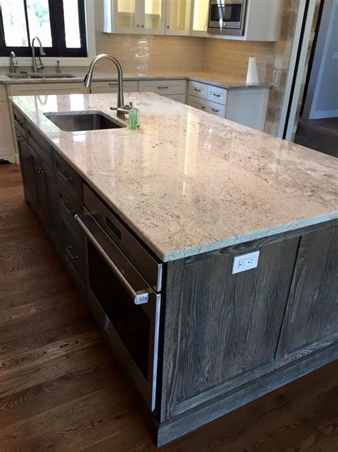 Light Granite   River White Granite   Kitchen Island
