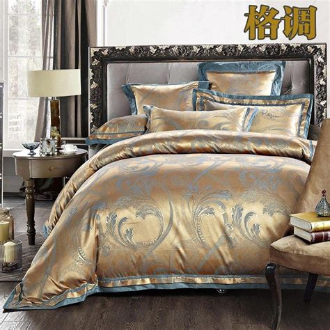 Discount Comforter Sets Chocolate Barbwire Embroidered Cheap Luxury Bedding Sets