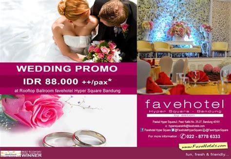 Paket Wedding Bandung Hotel by Paket Pernikahan Hanya Rp 88 000 Pax Difavehotel Hyper