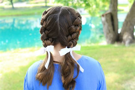cute girl hairstyles knotted braid double knotted braids cute girls hairstyles