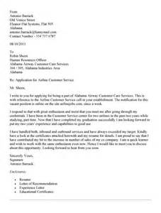 airline customer service cover letter resume update service