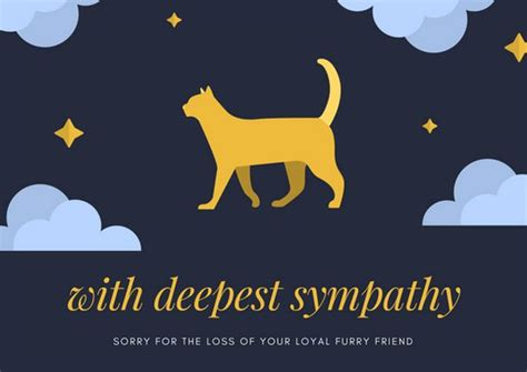 Pet Sympathy Card Template by Customize 162 Pet Sympathy Card Templates Canva