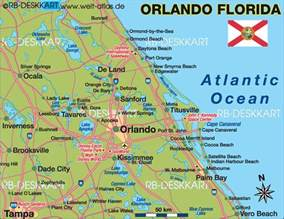 orlando map of florida map of orlando region united states of america usa