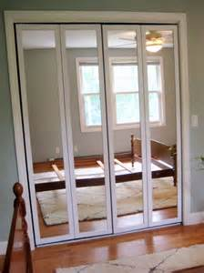 Mirrored Closet Door Replacement Mirrored Bifold Closet Doors Without Bottom Track Home