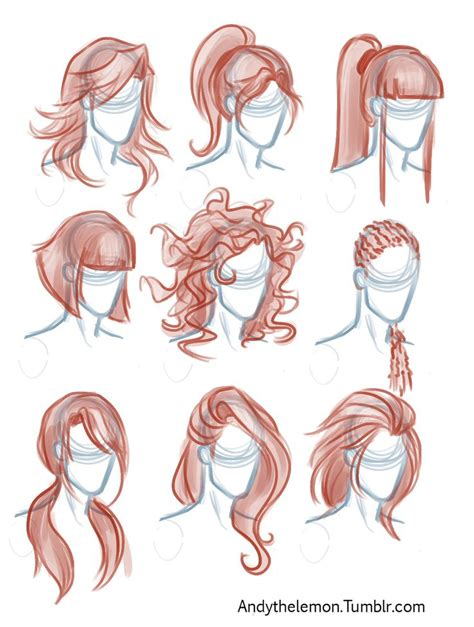 tutorial design character i adore drawing hair i really love the hair designs here