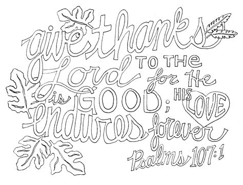 fall coloring pages with bible verses psalm 107 1 fromvictoryroad com christian inspiration