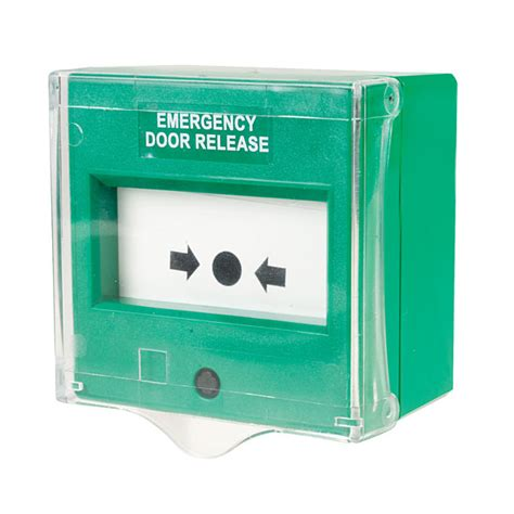 Emergency Door Release by Comus Cp54sgsc Resettable Green Emergency Door Release