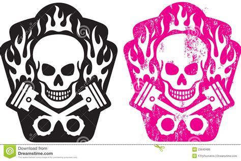 skull and pistons stock vector image of club head skull