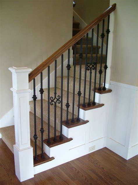 iron baluster stircase wood staircases with iron