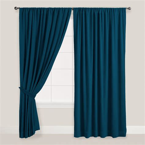 blue velvet curtains night blue velvet dual tab top curtain world market