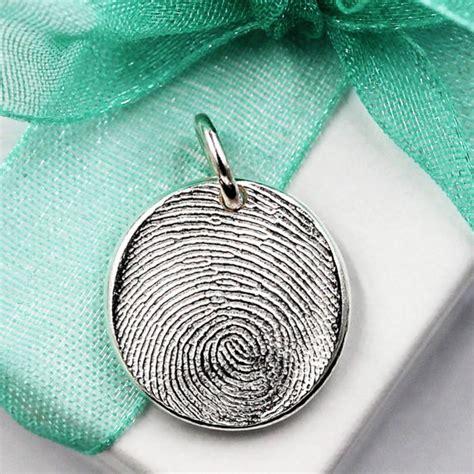 make fingerprint jewelry fingerprint charm jewelry custom made keepsake of 999