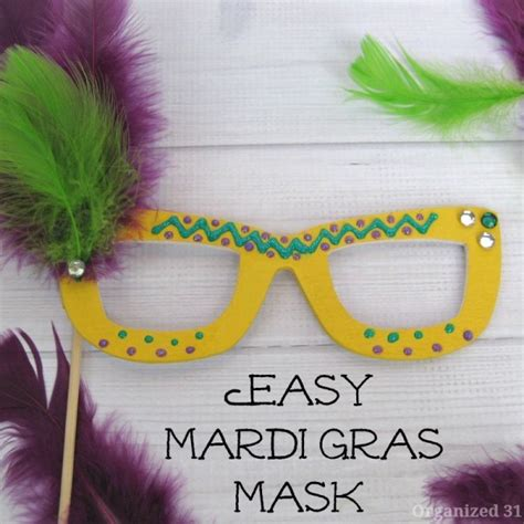 How To Make A Mardi Gras Mask Out Of Paper - easy diy mardi gras mask ideas