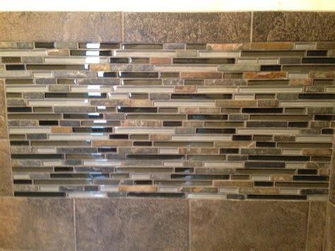 subway tile mosaic backsplash slate subway tile with glass mosaic vanity backsplash and