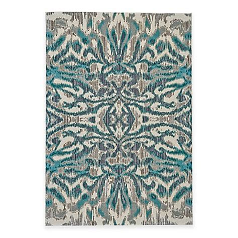 feizy keaton ikat rug in turquoise bed bath & beyond