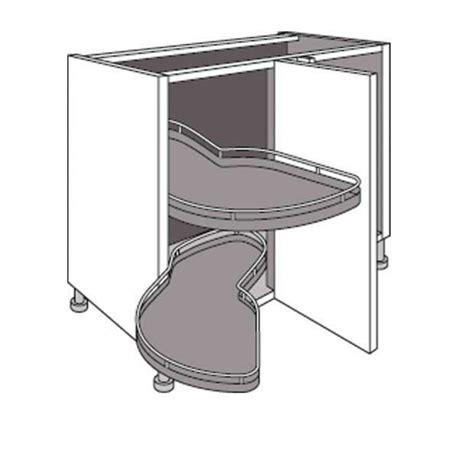 meuble de cuisine d angle bas avec 2 plateaux lemans twist