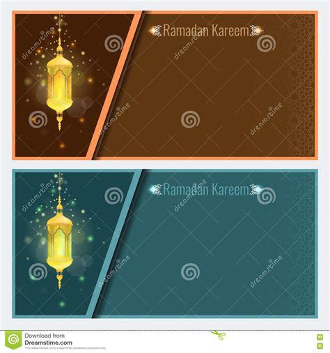 card template with lights ramadan kareem greeting card design template with l