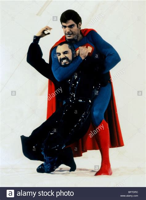 superman christopher reeve general zod terence st christopher reeve superman ii 1980 stock