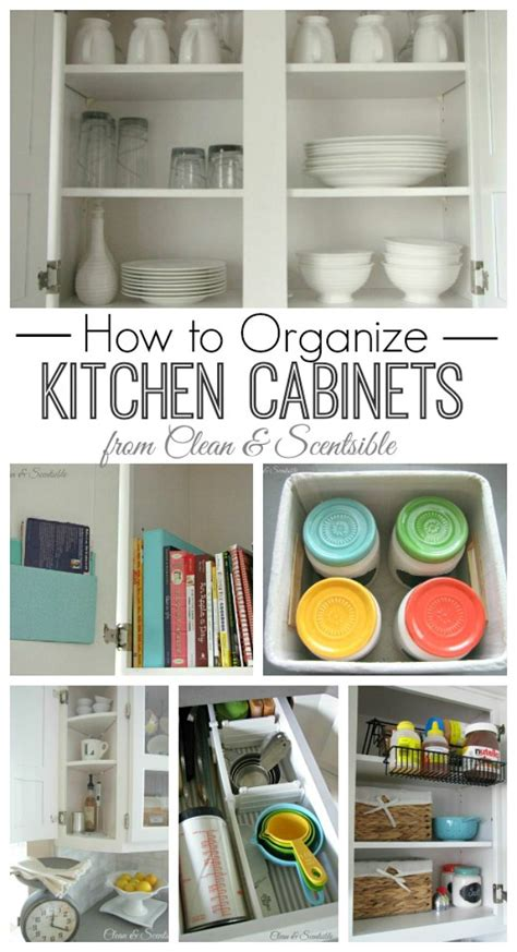 How To Organize Your Kitchen Cabinets And Drawers Clean And Organize The Kitchen February Hod Printables Clean And Scentsible