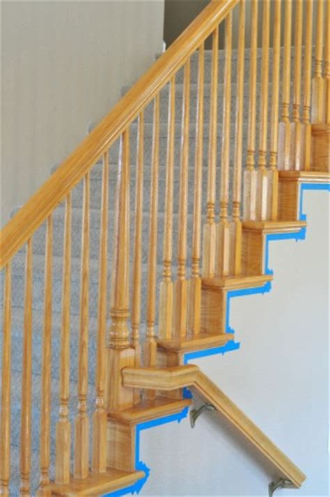how to paint stair banisters railings how to paint stairwells my frugal adventures