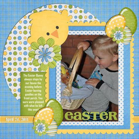 scrapbook layout easter easter scrapbook com cards and paper pinterest