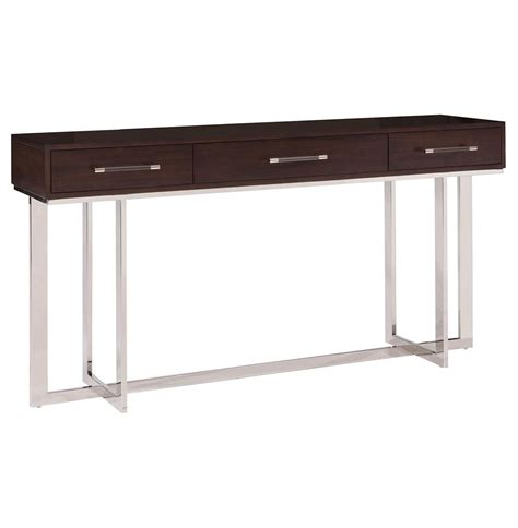 espresso wood contemporary sideboard buffet server console balmour modern classic espresso wood steel console
