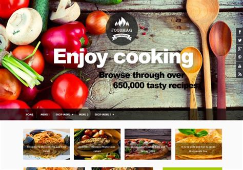food mag restaurant blogger template blogspot templates 2018