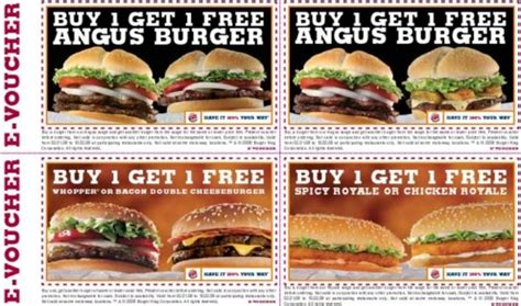 burger king printable vouchers uk burger king vouchers