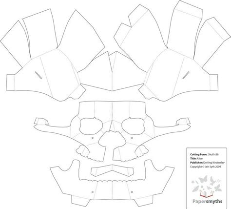 best photos of paper skull mask template skull paper