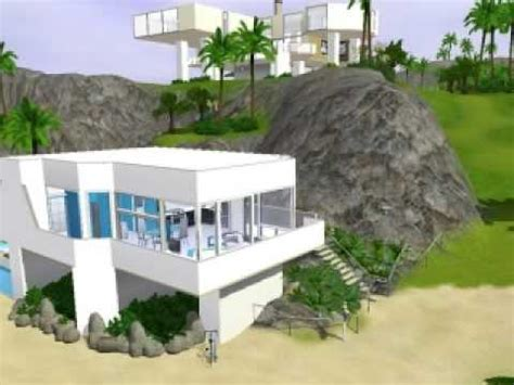 2 Bedroom Ranch House Plans the sims 3 modern beach house youtube