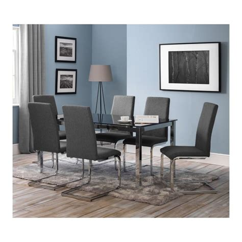 Julian Bowen Tempo Dining Set With 6 Roma Chairs