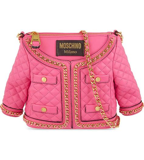 Moschino Ribbon Shoulder Bag by Moschino Small Quilted Jacket Leather Shopper Shoulder Bag