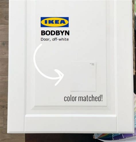 a paint color match to ikea bodbyn white cabinet benjamin lights and kitchens