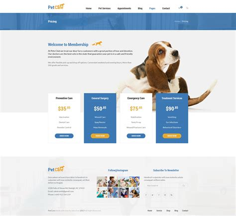 themeforest zoo petcare pet shop and pet care wordpress theme by