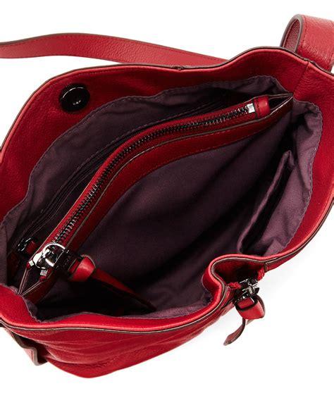 Kooba Leather Shoulder Bag On Sale At Saks Fifth Avenue by Lyst Kooba Ziggy Leather Zip Front Shoulder Bag In