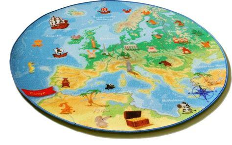 runder kinderteppich kinder teppich b 246 ing carpet rund 187 europakarte eu 1