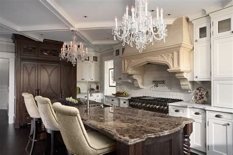 Kitchens With Two Different Colored Countertops by Emperador Marble Design