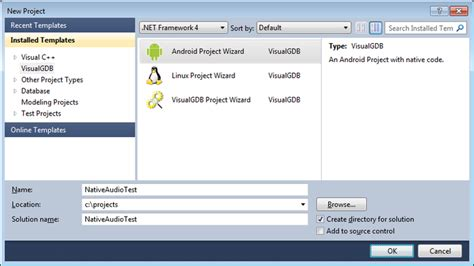 tutorial android studio ndk debugging the native audio project with visual studio