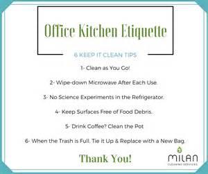 office kitchen etiquette 6 keep it clean tips milan
