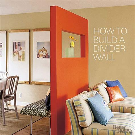 how to build a half wall room divider