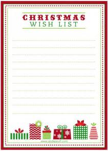 Printable Christmas Wish List Template Gallery For Gt Dear Santa Wish List