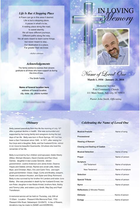 publisher program templates best photos of printable funeral program templates