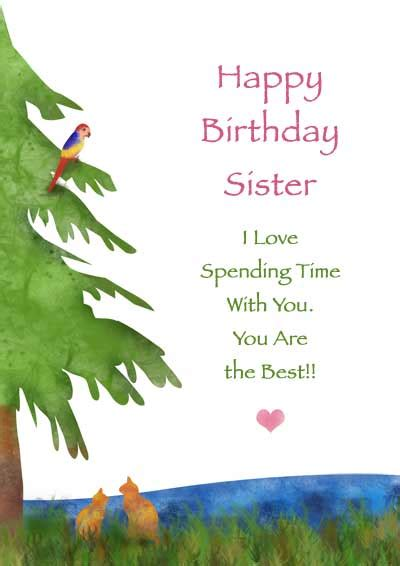 printable birthday cards for little sister 5 best images of sister birthday cards to print free