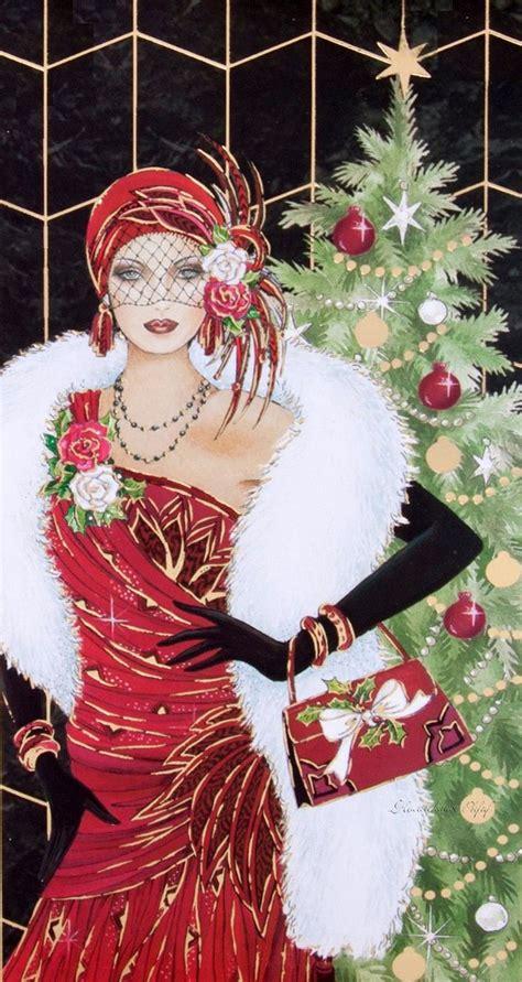 art deco lady l 17 best images about vintage christmas on pinterest