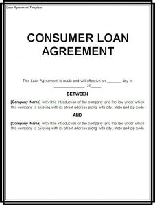 loan agreement template word excel templates