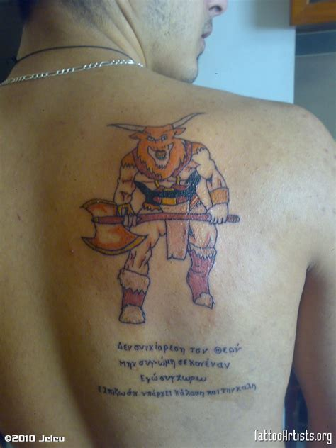 minotaur tattoo minotaur artists org
