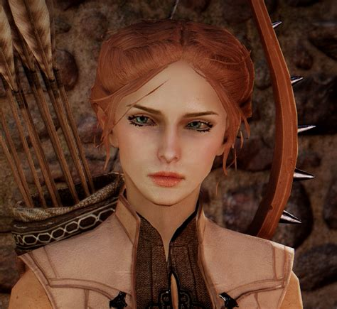 dragon age inqusition black hair isabelle lavellan a female elf at dragon age