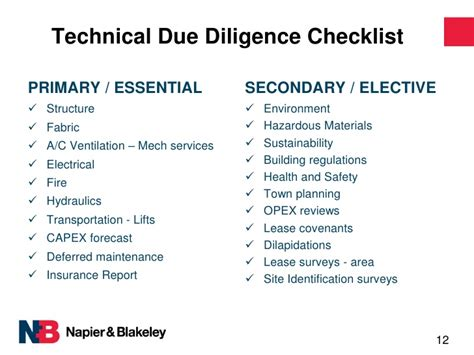technical due diligence report sle technical due diligence a smarter way mrma